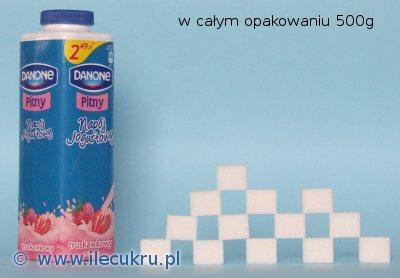 Ile cukru jest w jogurcie pitnym Danone