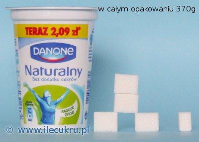 Danone jogurt naturalny, zawartość cukru